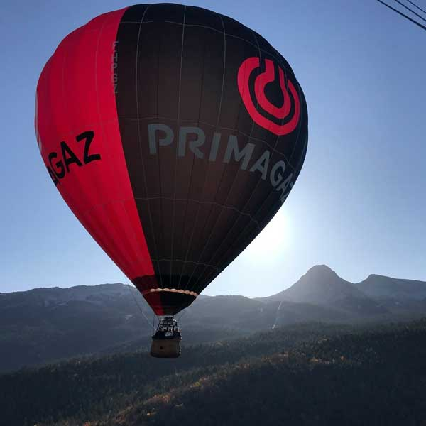 Le grand vol en montgolfière au-dessus du Vercors